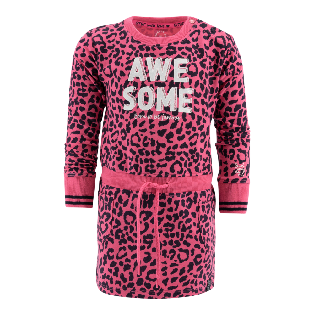 born-to-be-famous-dress-pink leopard