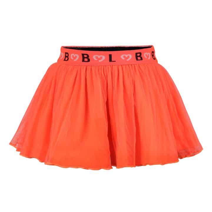 Swing in this skirt! Met deze koraal kleurige tulle rok swing jij deze zomer als een echte pink lady op ieder terras. De elastieken BBL logo band houdt het rokje op de plaats.