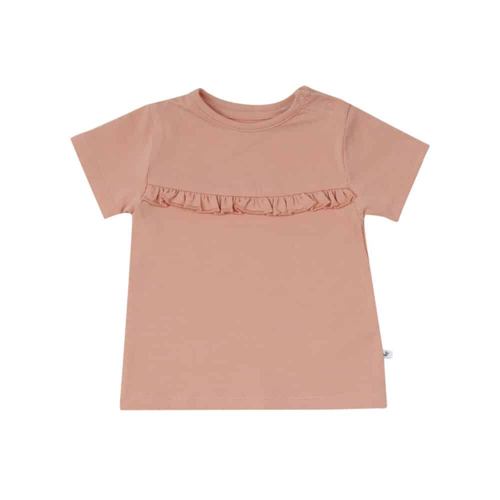 Ducky Beau shirt coral cloud