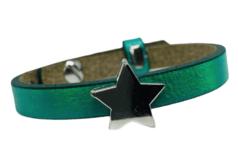Handmade armband green harts