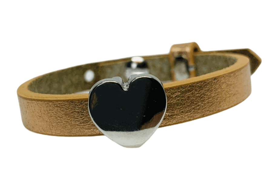 Handmade armband gold hart