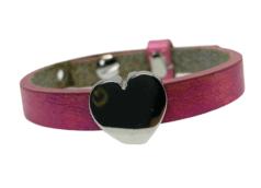Handmade armband pink hart