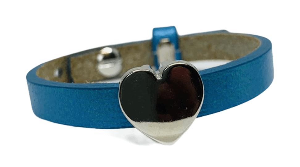 Handmade armband blue hart