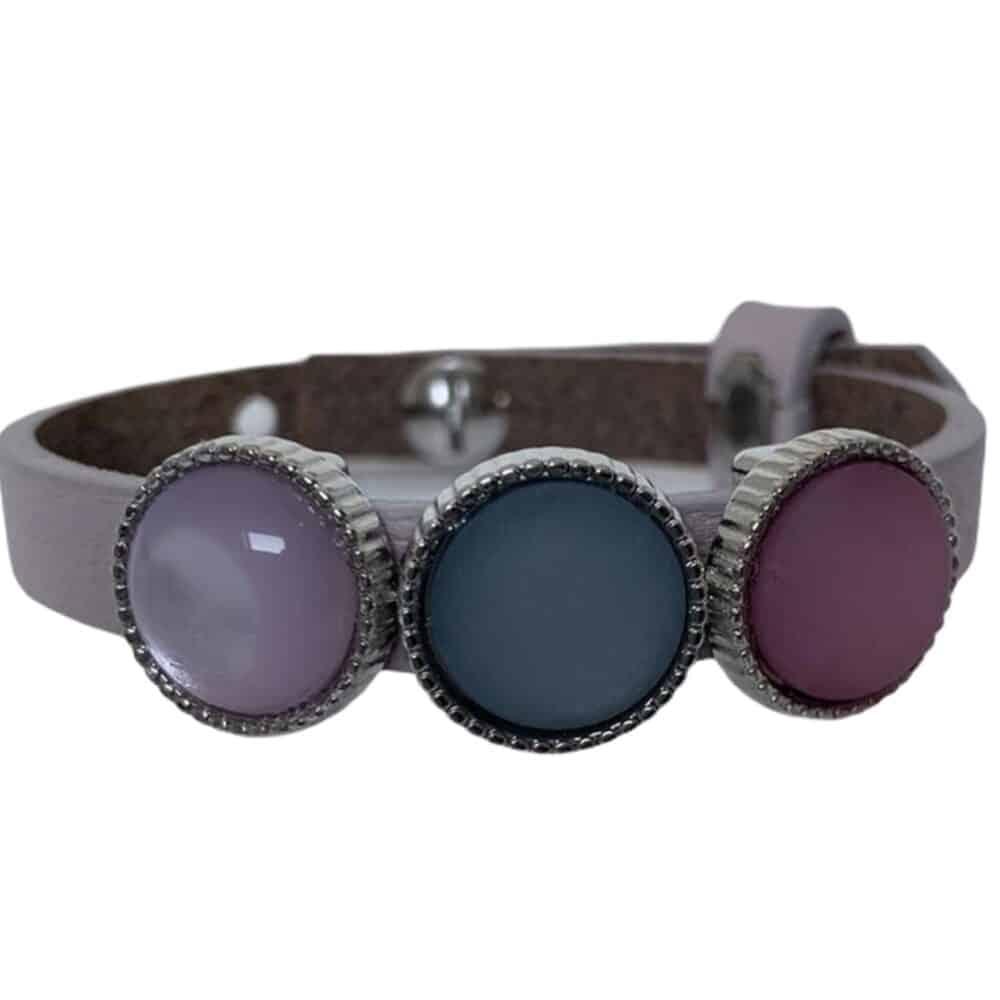 Handmade armband paars