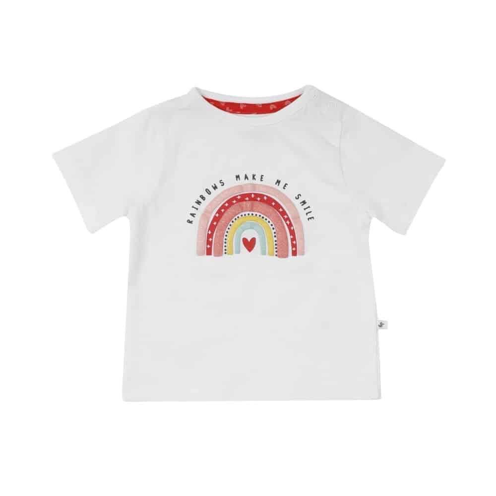Ducky Beau shirt off white rainbow