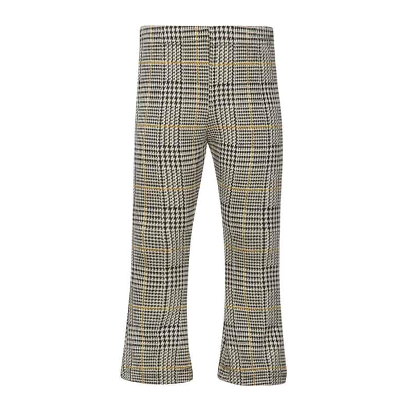 Kiezeltje flared pants check yellow