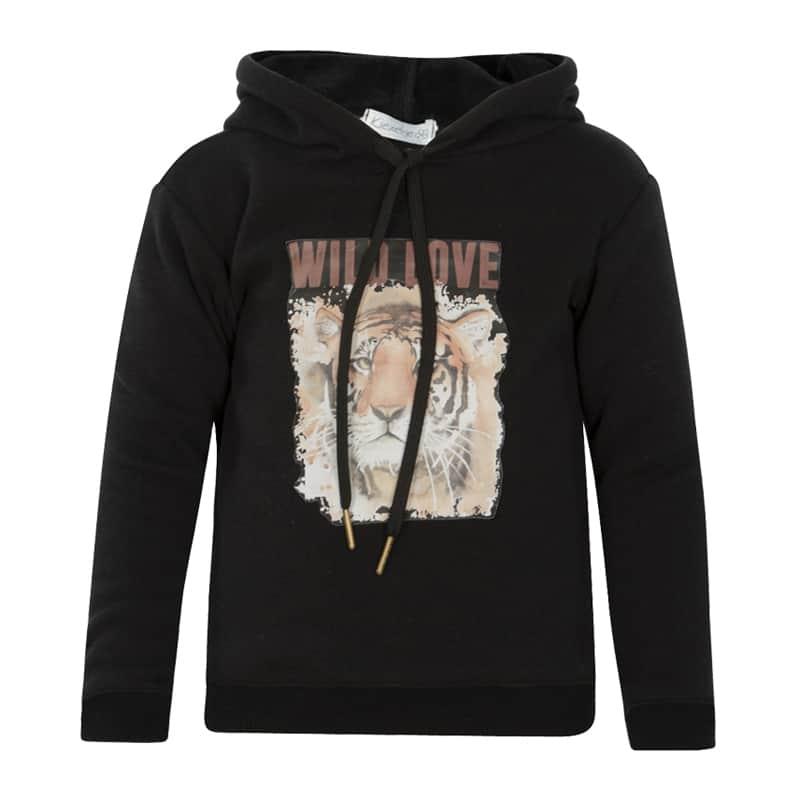 Kiezeltje hoodie black