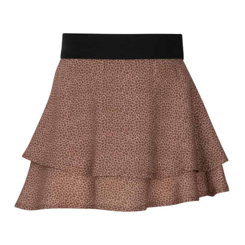 Kiezeltje skirt animal brown