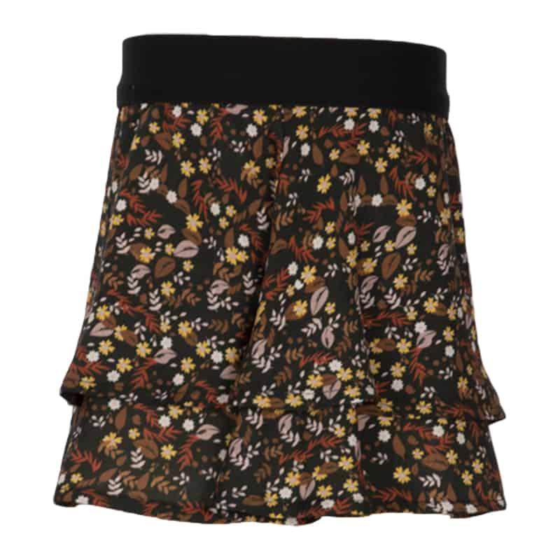 Kiezeltje skirt flower brown