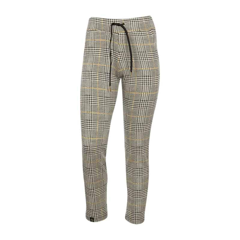 KIEstone pants check yellow