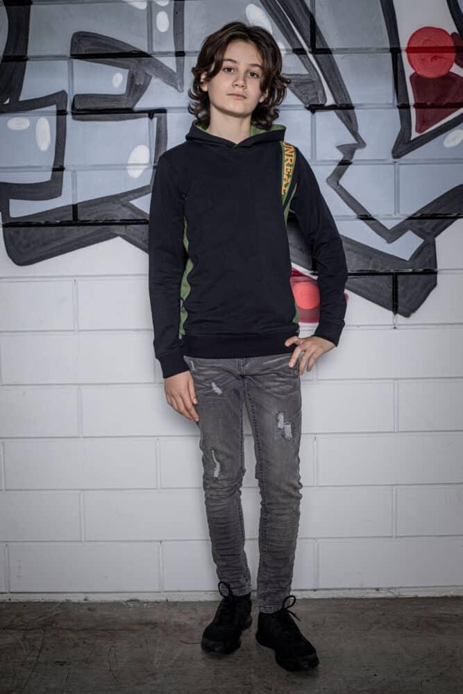 Unreal BA6 hoodie green/black