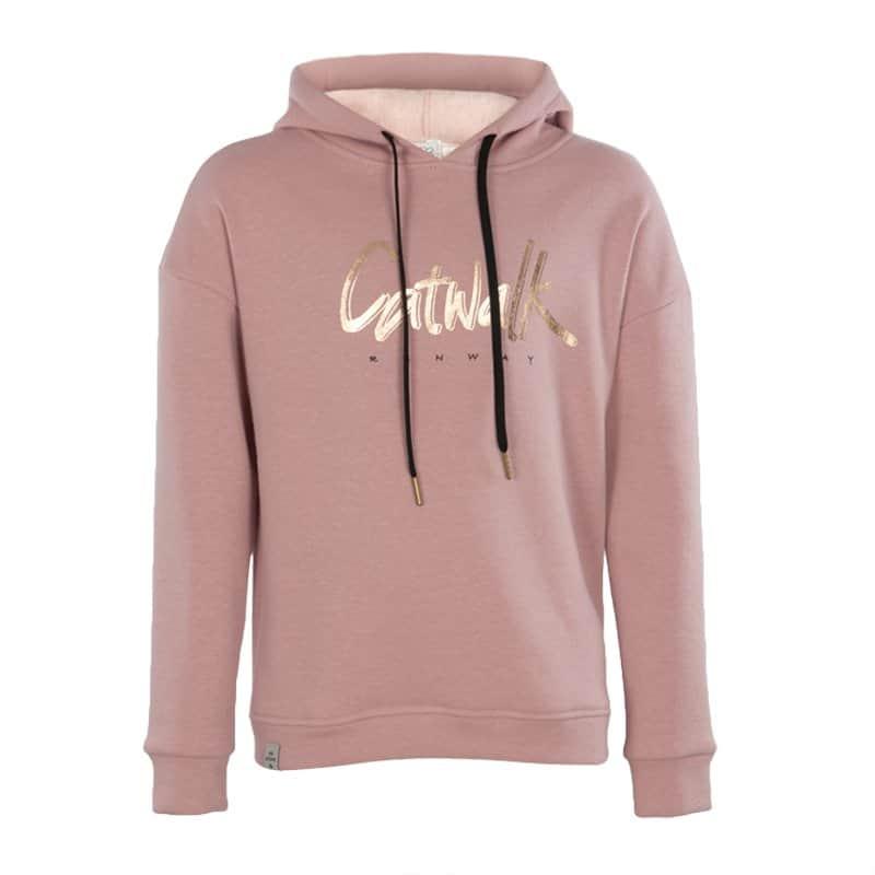 KIEstone hoodie soft pink