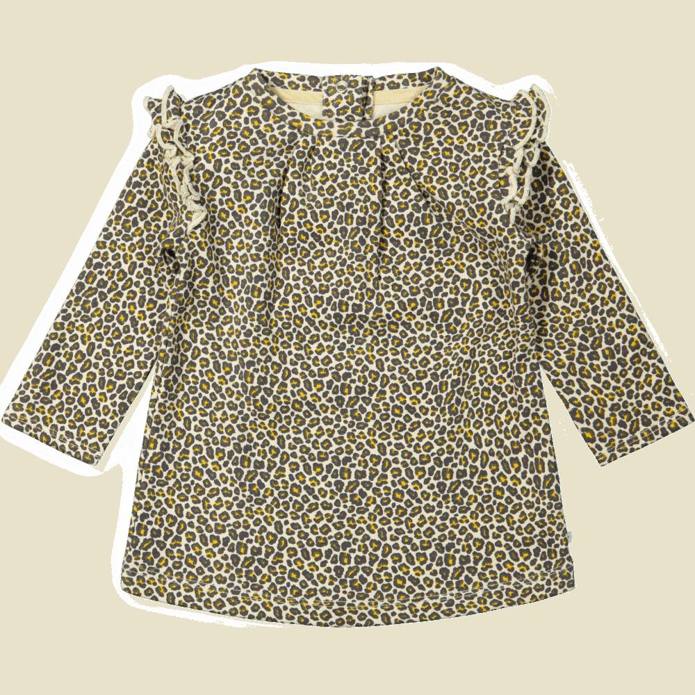 Ducky Beau dress leopard pattern